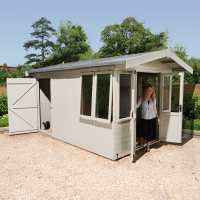 12x8 Champion Traditional Wooden Summer House With Rear Storage