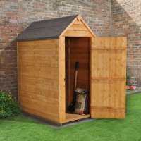 3ft x 5ft Forest Overlap Apex Dip Treated Wooden Windowless Shed (0.99m x 1.56m)
