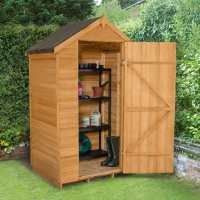 4ft x 3ft Forest Overlap Apex Dip Treated Wooden Windowless Shed (1.32m x 0.90m)
