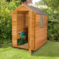 6ft x 4ft Forest Overlap Apex Dip Treated Wooden Shed (1.82m x 1.32m)