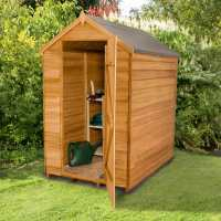 6ft x 4ft Forest Overlap Apex Dip Treated Wooden Windowless Shed (1.82m x 1.32m)