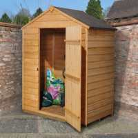 5ft x 3ft Forest Overlap Apex Dip Treated Wooden Windowless Shed (1.62m x 0.94m)