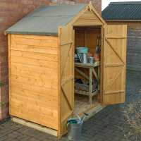 6ft x 4ft Forest Overlap Apex Dip Treated Wooden Double Door Shed (1.91m x 1.22m)