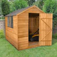 8ft x 6ft Forest Overlap Apex Dip Treated Wooden Shed (2.4m x 1.86m)