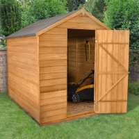 8ft x 6ft Forest Overlap Apex Dip Treated Wooden Windowless Shed (2.4m x 1.86m)