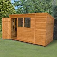 10ft x 6ft Forest Overlap Pent Dip Treated Wooden Shed (3.11m x 1.88m)