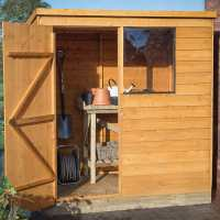 6ft x 4ft Forest Overlap Pent Dip Treated Wooden Shed (1.82m x 1.27m)