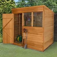 7ft x 5ft Forest Overlap Pent Dip Treated Wooden Shed (2.1m x 1.53m)