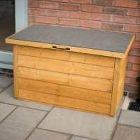 3ft6 x 1ft9 Forest Wooden Garden Storage Chest - Outdoor Patio Storage Box (1.08m x 0.55m)