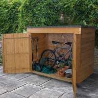 6ft x 2ft6 Forest Large Double Door Pent Wooden Garden Storage - Bike Store / Mower Outdoor Store (1.8m x 0.75m)