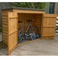 6x3 Forest Double Door Overlap Wooden Bike Shed / Mower Store (no floor)