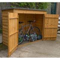 6x3 Forest Double Door Overlap Wooden Bike Shed / Mower Store (no floor)