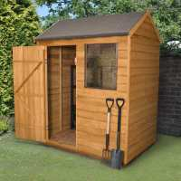 6ft x 4ft Forest Overlap Reverse Apex Dip Treated Wooden Shed (1.82m x 1.32m)