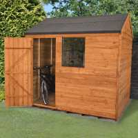 6ft x 8ft Forest Overlap Reverse Apex Dip Treated Wooden Shed (1.91m x 2.4m)