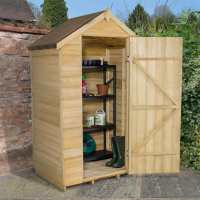 4ft x 3ft Forest Overlap Apex Pressure Treated Wooden Windowless Shed (1.32m x 0.92m)