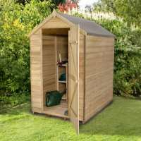6ft x 4ft Forest Overlap Apex Pressure Treated Wooden Windowless Shed (1.83m x 1.32m)