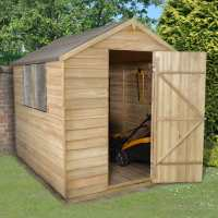 8ft x 6ft Forest Overlap Apex Pressure Treated Wooden Shed (2.4m x 1.91m)