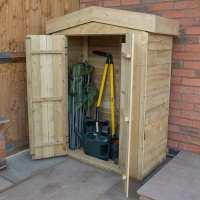 3ft7 x 1ft8 Forest Apex Midi Wooden Garden Storage - Outdoor Patio Storage (1.1m x 0.5m)
