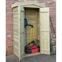 3ft7 x 1ft8 Forest Tall Apex Wooden Garden Storage Tool Store - Outdoor Patio Storage (1.1m x 0.5m)