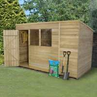 10ft x 6ft Forest Overlap Pent Pressure Treated Wooden Shed (3.11m x 1.88m)