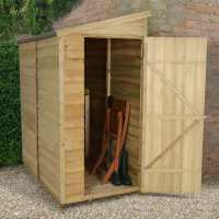 6ft x 3ft Forest Overlap Pent Pressure Treated Wooden Lean To Shed (1.81m x 1.07m)