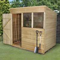 7ft x 5ft Forest Overlap Pent Pressure Treated Wooden Shed (2.1m x 1.53m)