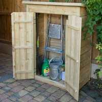 3ft6 x 2ft Forest Pent Midi Wooden Garden Storage - Outdoor Patio Storage (1m x 0.55m)