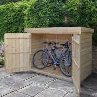 Forest Large Double Door Pent Wooden Garden Storage  - Bike / Mower Outdoor Store