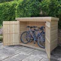 6ft5 x 2ft10 Forest Large Double Door Pent Wooden Garden Storage - Bike / Mower Outdoor Store (1.9m x 0.86m)