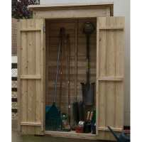 3ft6 x 2ft Forest Tall Pent Wooden Garden Storage Tool Store - Outdoor Patio Storage (1m x 0.55m)