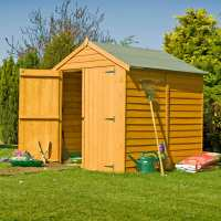 6ft x 6ft Shire Overlap Double Door Wooden Garden Shed (2.01m x 1.82m)