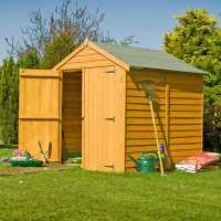 6ft x 6ft Shire Overlap Double Door Wooden Garden Shed (2.01m x 1.82m)