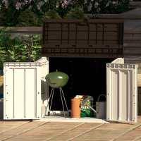Toomax Extra Large 842L Plastic Outdoor Waterproof Shed - Wheelie Bin Garden Storage