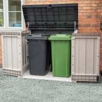 Toomax Extra Large Grey 1200L Plastic Outdoor Garden Storage Unit / Wheelie Bin Store