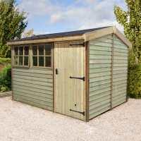 10ft x 8ft Shed-Plus Champion Barnstyle Workshop - Standard Door (3.1m x 2.49m)