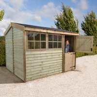 12ft x 8ft Shed-Plus Champion Barnstyle Workshop - Standard Door (3.71m x 2.49m)