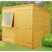 6ft7 x 7ft Shire Shiplap Pent Wooden Garden Shed (2.01m x 2.15m)