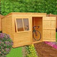6ft x 8ft Shire Pent Shiplap Wooden Garden Shed (1.93m x 2.53m)