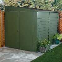 9ftx4ft (2.7x1.2m) Trimetals ftProtect a Bikeft Secure Garden Storage