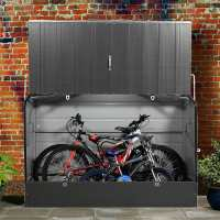 6ftx3ft (1.8x0.9m) Trimetals Anthracite ftProtect.a.Cycleft Secure Garden Bike Storage