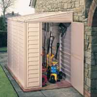 4ft x 8ft Saffron Lean To Plastic Vinyl Shed (1.21m x 2.39m)
