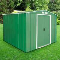 8ft x 8ft Store More Sapphire Apex Green Metal Shed (2.62m x 2.42m)