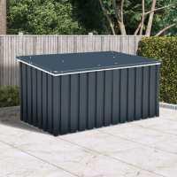 4ft x 2ft Sapphire Anthracite Metal Garden Cushion Storage Box (1.28m x 0.68m)