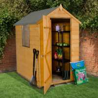 6ft x 4ft Forest Shiplap Apex Wooden Shed (1.78m x 1.19m)