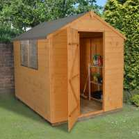 8ft x 6ft Forest Shiplap Apex Dip Treated Wooden Shed (2.4m x 1.91m)