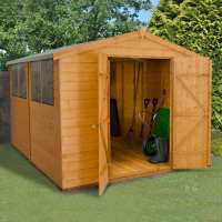 10ft x 8ft Forest Shiplap Apex Dip Treated Wooden Double Door Shed (3.10m x 2.45m)