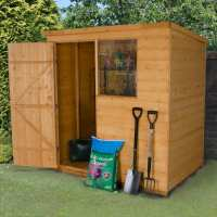 6ft x 4ft Forest Shiplap Pent Dip Treated Wooden Shed (1.82m x 1.27m)