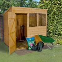 7ft x 5ft Forest Shiplap Pent Dip Treated Wooden Shed (2.1m x 1.53m)