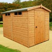 6ft x 10ft Shire Premium Security Apex Wooden Garden Shed (1.79m x 2.99m)