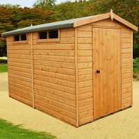 8ft x 10ft Shire Premium Security Apex Wooden Garden Shed (2.39m x 2.99m)
